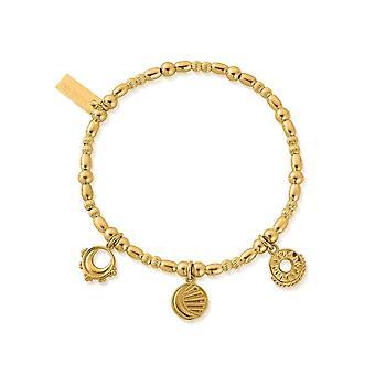 ChloBo GBMULSKIES Gold Tone Triple Skies Bracelet