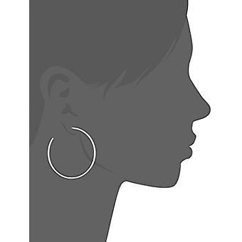 Sterling Silver Lightweight Polished 45mm C-Hoop Earrings, Silver, Size No Size