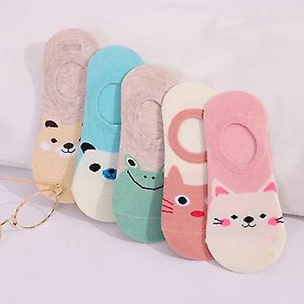 Summer Japanese Cute Cartoon Animal Boat Socks, Ladies Shallow Mouth Non-slip