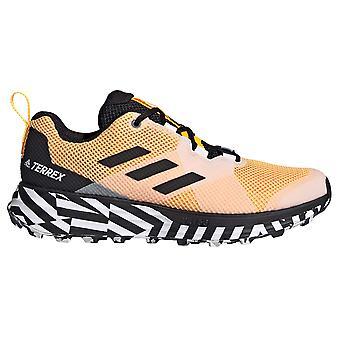 adidas Terrex Two Mens Trail Running Trainer Chaussure Or/Noir/Blanc