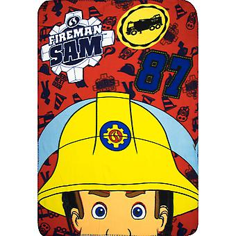 Fireman sam kids blanket throw fms4256blkt