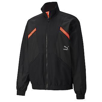 Puma TFS räätälöity urheilu kudottu musta track top miesten takki 596464 01