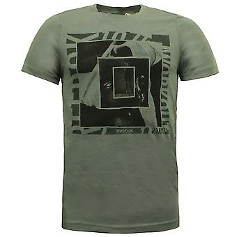 Reebok Klassische SSG Grafik T-Shirt Rundhals Herren Tee Top Khaki S01751 A5E