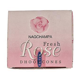 Fresh Rose Incense Cones 12 units