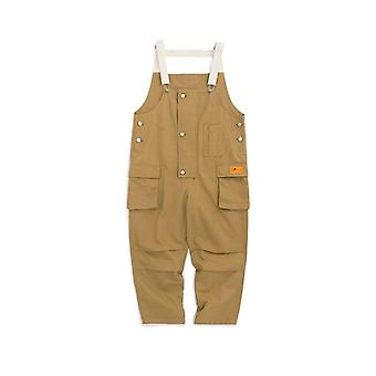 Summer Trendy Casual Multi Dimensional Pocket Trousers, Men's Strap Jumpsuit