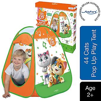 John Pop Up 44 Cats Children's Play Tent with a Colorful Pattern