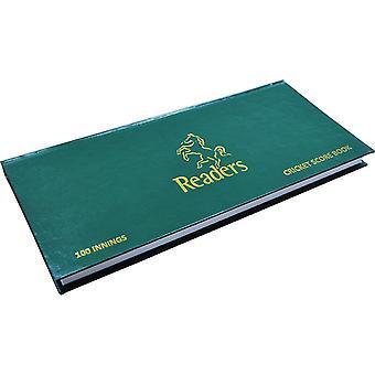 Readers 100 Innings Cricket Scorebook