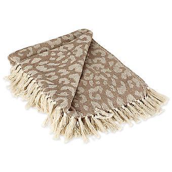 Dii Leopard weiß werfen Decke
