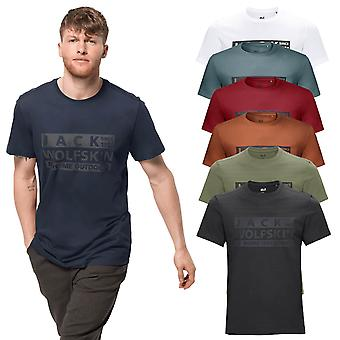 Jack Wolfskin Mens 2021 Brand Organic Cotton Crew Neck T-Shirt