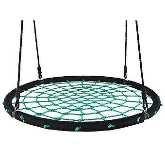 Nestschaukel - offen geflochten - 100 cm Durchmesser - 165 cm Seile