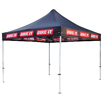 Bike It Easy-Up Canopy 3m x 3m With Steel Frame And Carry Bag - Black