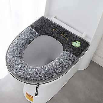 Home Luminous Toilet Pad Thickened With Zipper O-shaped Plush Seated Cushion