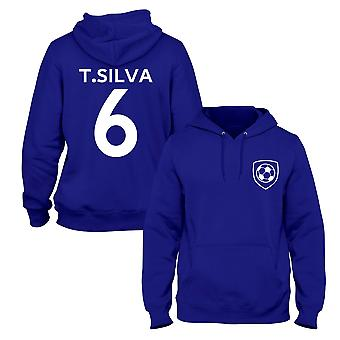 Thiago Silva 6 Club Style Player Football Hoodie
