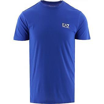 T-shirt med blå kortärmad kortärmad logotyp