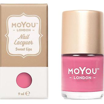 MoYou London Stamping Nail Lacquer - Sweet Lips 9ml (MNB011)