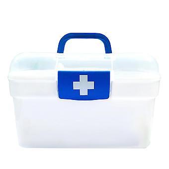 Första hjälpen låda förvaringsbox, hemmakontor akut räddning medicin skåp, bärbar medicin skåp förvaringsbox