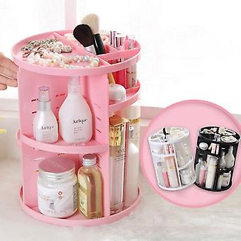 Scanidinavian style 360 degree rotating makeup and cosmetics organiser