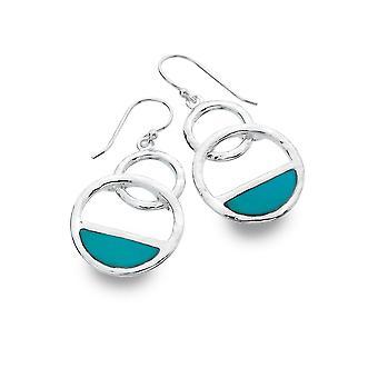 Sterling Silver Earrings - Origins Horizon + Turquoise 2 Pc