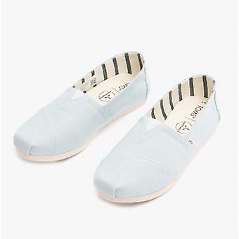 TOMS Alpargata Ladies Canvas Espadrille Chaussures Pastel Bleu