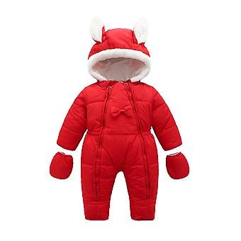 Winter New Born Baby, Clothes, Foot Coveralls, Velvet Thick Coat,  Snowsuit,