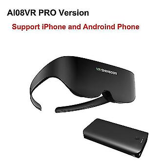Shinecon vr гарнитура ai08 гигантский экран же экран стерео кино 3d очки про виртуальной реальности VR для iphone Android смартфон