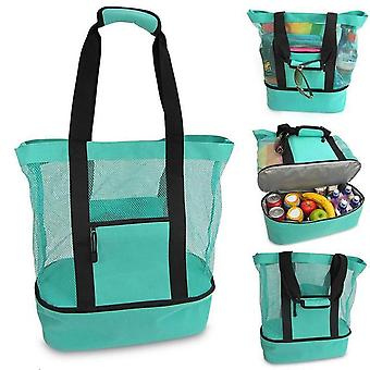 Outdoor Travel Picnic Bag Beach Insulation And Fresh-keeping Bag Mesh Beach Bag Creative Multifunctional Ice Pack Meal Snacks Drink Bag