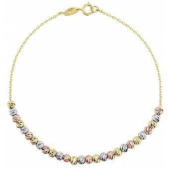 Mark Milton Bead Bracelet - Gold/White Gold/Rose Gold