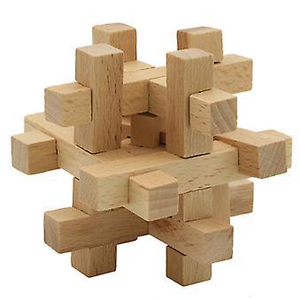 Houten puzzels Kongming Lock Kids Logica Puzzel Demontage Unlock Speelgoed