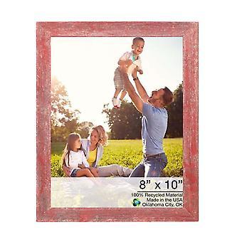 """8 """" x 10 """" rustieke boerderij rode houten frame"""