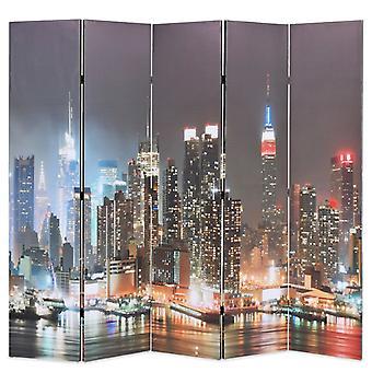 vidaXL huoneenjakaja taitettava 200 x 170 cm New York yöllä