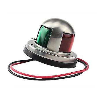 Stainless Steel- Red, Green Bow, Navigation Led, Warning Light Lamp