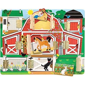 FengChun Melissa Doug 14592 Doug Hide Seek Farm (Entwicklungsspielzeug, magnetischePuzzle-Board,