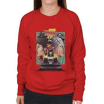 Back to the Future Doc Vs Marty Dames Sweatshirt