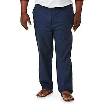 Essentials Heren Big & Tall Linen Blend Pant fit van DXL, Navy, 3XW 30L