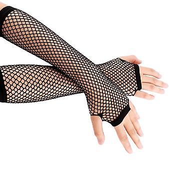 Nová módní síťka bez prstů dlouhé rukavice
