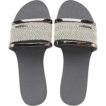 Havaianas Adults You Trancoso Premium Summer Sandals Thongs Flip Flops - Grey