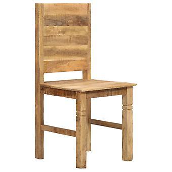 vidaXL sillas de comedor 6 piezas. Madera de mango maciza