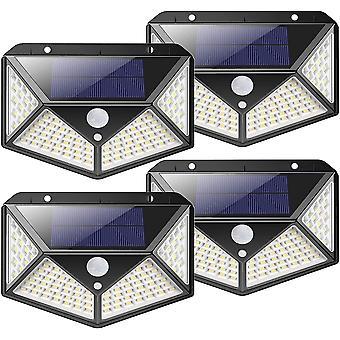 Outdoor solar lamp 100 led outdoor solar lighting motion detector solar light with 3 lighting modes- 4pack dt5946