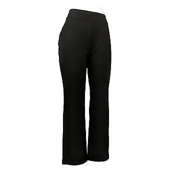 IMAN Global Chic Women's Pants 360 Slim Ponte Boot-Cut Black 722609001