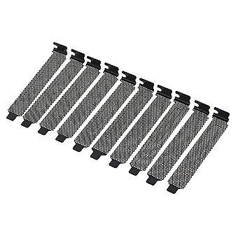 For Black PCI Slot Cover Dust Bracket Blanking Case PC Desktop Computer Set of 10 WS5121