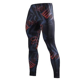 Uusi kesä leggingsit miesten puristus nopea kuiva kehonrakennus laiha rento housut muoti elastinen fitness miesten housut sukkahousut