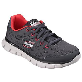 Skechers kid's synergy fine tune lace up trainer multicolor 23918