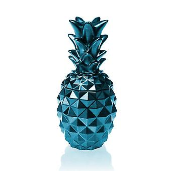 Blue Metallic Concrete Pineapple For Her Candle