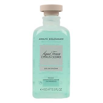 Shower Gel Agua Fresca Citrus Cedro Adolfo Dominguez (400 ml)