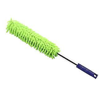 Green professional car wash brush,car dust cleaning tool az11906