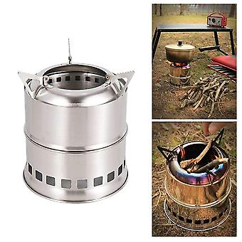 Portable stainless steel backpacking outdoor camping hiking picnic wood stove