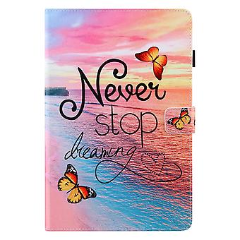 Case For Samsung Galaxy Tab A7 10.4 2020 Cover Auto Sleep/wake Rotating Multi-angle Viewing Folio Stand - Sandy Beach