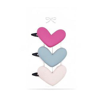 6SET 3pcs /הרבה סוכריות צבע צבע לב קליפ שיער ילדים פרח קשת חמוד בנות בארטס סיכת ראש