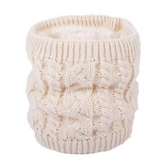 Warm Scarf In Winter, All-match Knitted Scarf For Couples, Pure Color Plus Velvet Scarf(Beige)