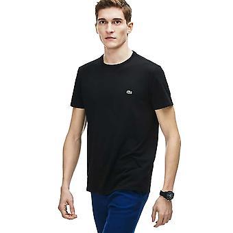 Lacoste Pima Puuvilla Jersey T-paita - Musta